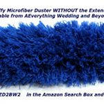 Everything-Wedding-and-Beyond-22-inch-Bendable-Fluffy-Blue-Microfiber-Cleaning-Duster-and-a-Lightweight-Threaded-Extendinging-23-Inches-to-4-Feet-Long-Pole-Kit-The-Total-Length-of-Duster-and-the-Pole–0-1
