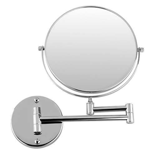 Excelvan-8-Inch-Two-Sided-Swivel-Wall-Mount-Magnifying-Makeup-Mirror-12-Inch-Extension-Chrome-Finished-0