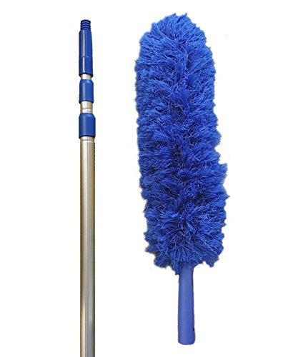 Extension-Rod-Blue-Extension-Duster-Extend-18-20-feet-Cleaning-High-Ceilings-Cathedral-Ceilings-Ceiling-Fans-Book-Shelve-Curtain-Rods-Micro-Fiber-Duster-Cobweb-Duster-Pest-Control-Duster-0