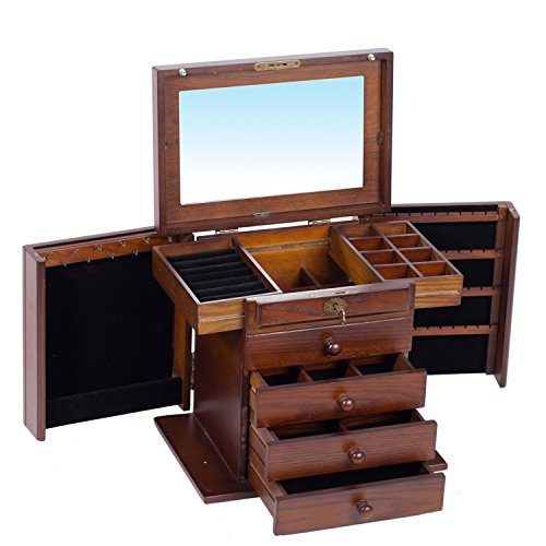 Extra-Large-Wooden-Jewelry-Box-Jewel-Case-Cabinet-Armoire-Ring-Necklacel-Gift-Storage-Box-Organizer-Mg002-0-0