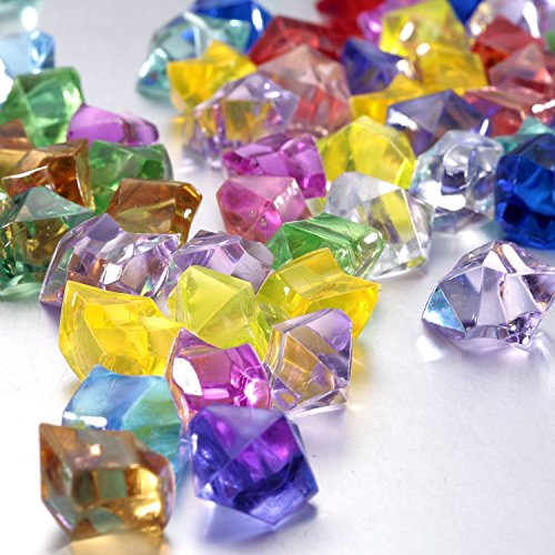 FUNLAVIE-Multi-Colored-Acrylic-Diamonds-Pirate-Treasure-Jewels-for-Costume-Stage-Props-Party-DecorationWedding-and-Vase-Fillers-0-0