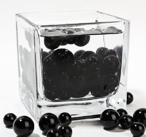 Factory-Direct-Craft-Wholesale-Elegant-Vase-Fillers-8-Ounce-Bag-Approx-68-Pearls-Oversized-Black-Pearl-Beads-Unique-Decorative-Gems-0-1