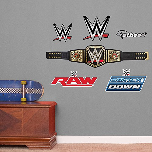 Fathead-WWE-Title-Belt-Junior-Peel-and-Stick-Wall-Decals-0