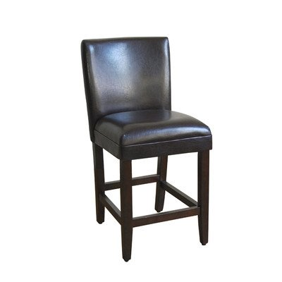 Faux-Leather-Seat-High-Barstool-in-Brown-0