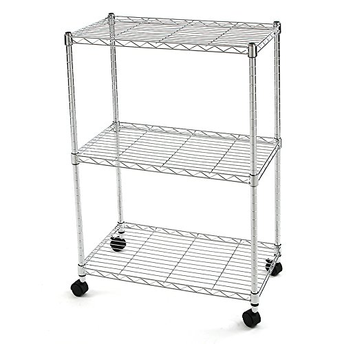 Finnhomy-3-Tier-Heavy-Duty-Wire-Rack-Shelving-with-WheelsMetal-Adjustable-Rolling-NSF-Shelving-UnitThicken-Steel-Tube-Chrome-0