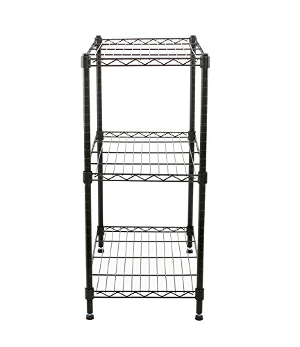 Finnhomy-Supreme-Steel-Wire-Shelving-Unit-with-Stable-Leveling-Feet-3-Shelves-Wire-Rack-Shelving-Thicken-Steel-Tube-Black-0-1