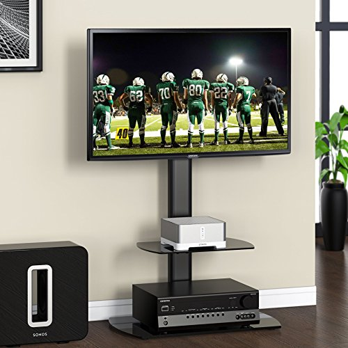 Fitueyes-Swivel-Floor-tv-stand-with-mount-and-two-shelves-for-32-50-Sony-Samsung-LG-Vizio-TV-TT206501GB-0