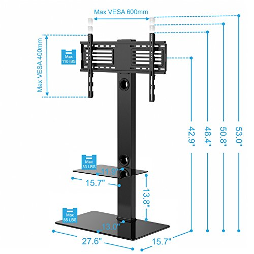 Fitueyes-TT207001MB-Swivel-TV-Stand-and-Mount-for-32-65-Inch-0-0