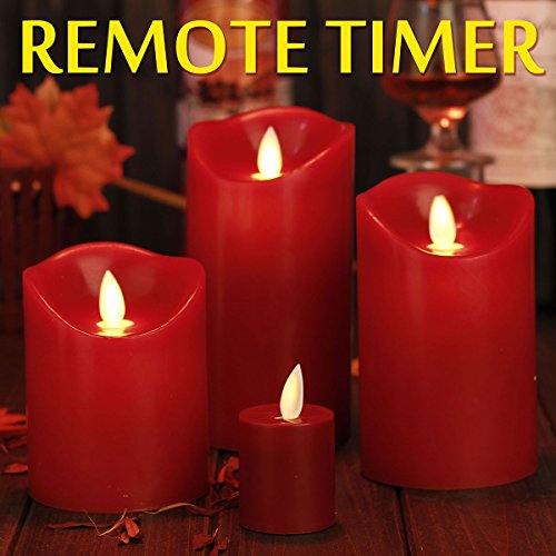 Flameless-Candles-Red-Battery-Operated-Candles-with-Remote-Timer-of-2468-Hours-Flickering-Candles-Set-of-4-Comenzar-0-1