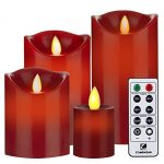 Flameless-Candles-Red-Battery-Operated-Candles-with-Remote-Timer-of-2468-Hours-Flickering-Candles-Set-of-4-Comenzar-0