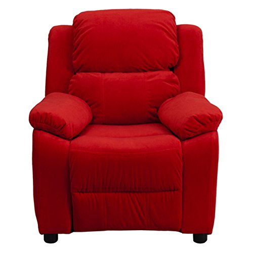 Flash-Furniture-Deluxe-Heavily-Padded-Contemporary-Avocado-Microfiber-Kids-Recliner-with-Storage-Arms-0-0