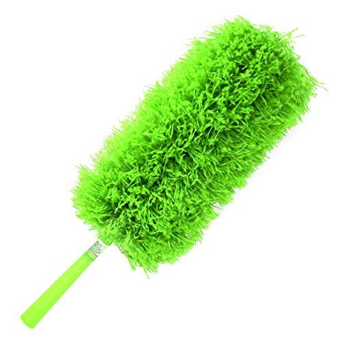 Fluffy-Microfiber-Duster-Best-Green-Cleaning-Washable-DustersReusable-Micro-Fiber-Bendable-Extendable-Add-Your-Handle-For-Long-Reach-Eco-Friendly-by-CleansGreen-Not-Ostrich-Feather-or-Lambs-Wool-0-1