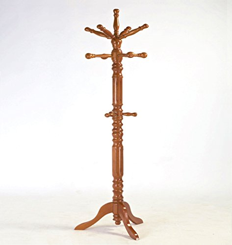 Frenchi-Home-Furnishing-Traditional-Spinning-Top-Wooden-Coat-Rack-0-0