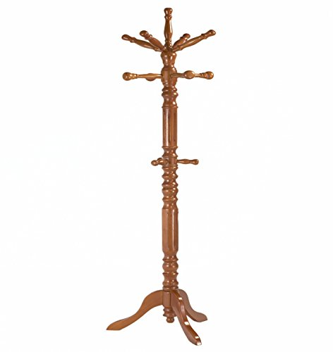 Frenchi-Home-Furnishing-Traditional-Spinning-Top-Wooden-Coat-Rack-0-1