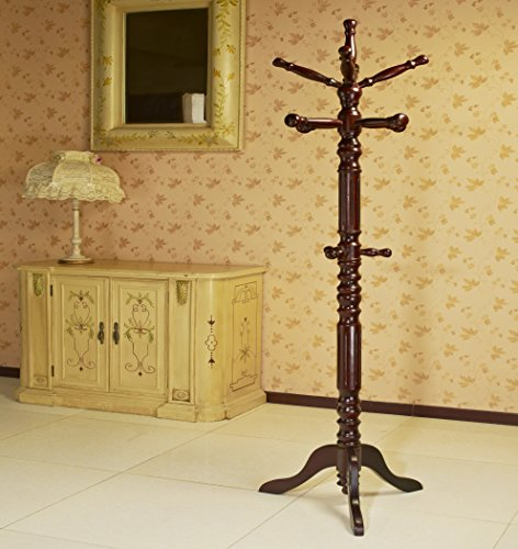 Frenchi-Home-Furnishing-Traditional-Spinning-Top-Wooden-Coat-Rack-0-2