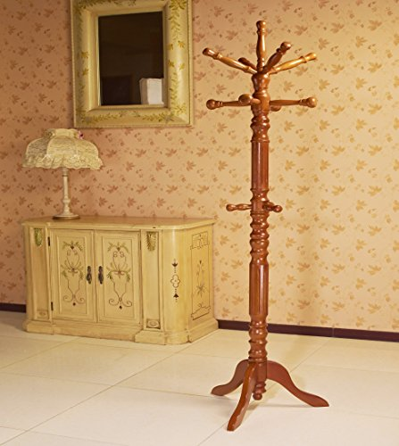 Frenchi-Home-Furnishing-Traditional-Spinning-Top-Wooden-Coat-Rack-0