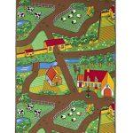 Fun-Kids-Country-Farm-Life-Mat-Animal-and-Tractor-Rug-0-0