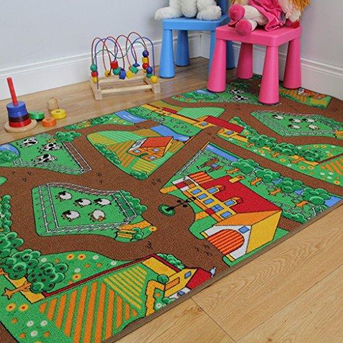 Fun-Kids-Country-Farm-Life-Mat-Animal-and-Tractor-Rug-0