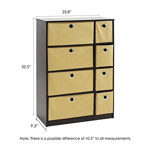 Furinno-Econ-13089EXLB-Storage-Organizer-Cabinet-with-Bins-EspressoLight-Brown-0-0