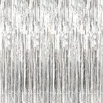 GIFTEXPRESS-Metalic-Silver-Fringe-Curtain-set-of-2Photo-Backdrophanging-TinselHanging-curtainfoil-fringe-window-cutaindoorway-curtainentrance-curtain-0