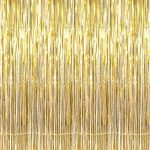 GIFTEXPRESS-Metallic-Gold-Foil-Fringe-Curtain-set-of-2Photo-Backdrophanging-TinselHanging-curtainfoil-fringe-window-cutaindoorway-curtainentrance-curtain-0