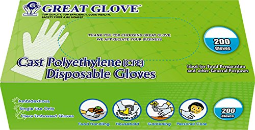 GREAT-GLOVE-Cast-Polyethylene-CPE-Food-Service-Gloves-Latex-Free-FDA-21CFR-170-199-Compliant-Embossed-Clear-0