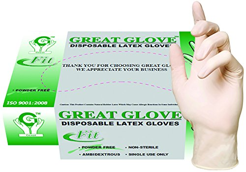 GREAT-GLOVE-Latex-Industrial-Grade-Foodservice-Glove-35-45-mil-Powder-Free-Textured-Natural-Rubber-Latex-General-Purpose-FDA-1771950-Compliant-0