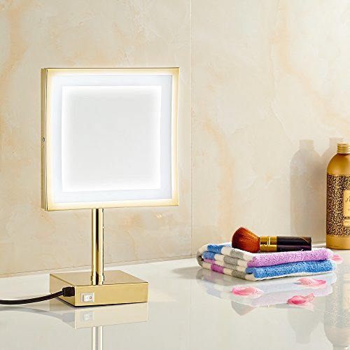 GURUN-85-inch-Magnifying-Lighted-Mirror-with-LED-Light-3x-Magnification-Gold-Finish-M2205Dtabletop-Gold-0-1