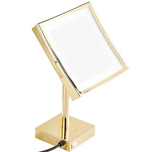 GURUN-85-inch-Magnifying-Lighted-Mirror-with-LED-Light-3x-Magnification-Gold-Finish-M2205Dtabletop-Gold-0