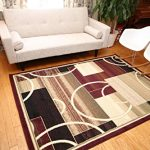 Generations-Brand-New-Contemporary-Reds-Burgundy-Modern-Square-and-Circles-Area-Rug-0