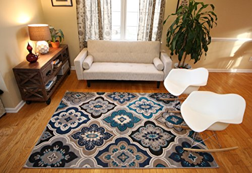 Generations-New-Contemporary-Panal-and-Diamonds-Beige-Navy-Coral-Blue-Grey-Modern-Area-Rug-Rugs-8036-0-0
