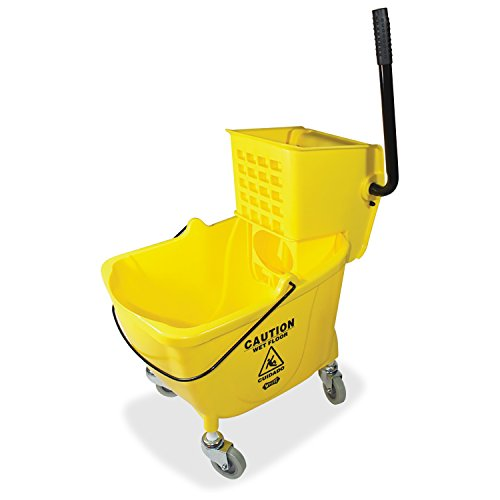 Genuine-Joe-GJO02347-Side-Press-Wringer-Mop-Bucket-Yellow-0