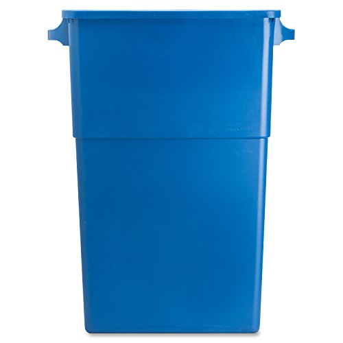 Genuine-Joe-GJO57258-Recycling-Rectangular-Container-28-gallon-Capacity-22-12-Width-x-30-Height-x-11-Depth-Blue-0-0