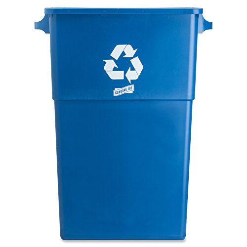 Genuine-Joe-GJO57258-Recycling-Rectangular-Container-28-gallon-Capacity-22-12-Width-x-30-Height-x-11-Depth-Blue-0