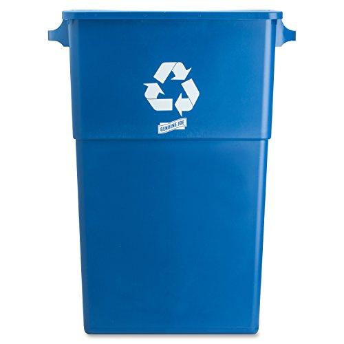 Genuine-Joe-GJO57258-Recycling-Rectangular-Container-28-gallon-Capacity-22-12-Width-x-30-Height-x-11-Depth-Blue-0