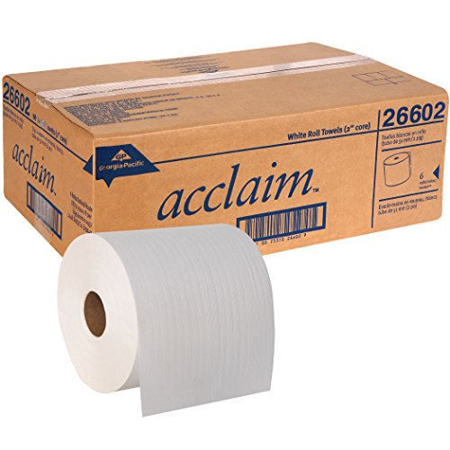 Georgia-Pacific-Acclaim-26602-White-High-Capacity-Roll-Towel-7-78-Width-x-800-Length-6-Rolls-of-800-0-1
