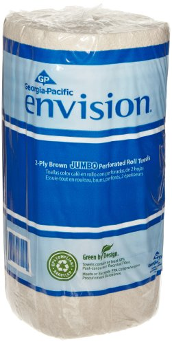 Georgia-Pacific-Envision-28290-Brown-High-Capacity-Perforated-Paper-Kitchen-Roll-Towel-88-Length-x-11-Width-Case-of-12-Rolls-250-per-Roll-0-0