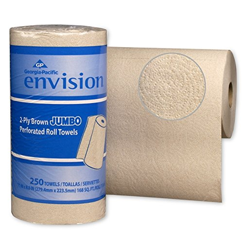 Georgia-Pacific-Envision-28290-Brown-High-Capacity-Perforated-Paper-Kitchen-Roll-Towel-88-Length-x-11-Width-Case-of-12-Rolls-250-per-Roll-0