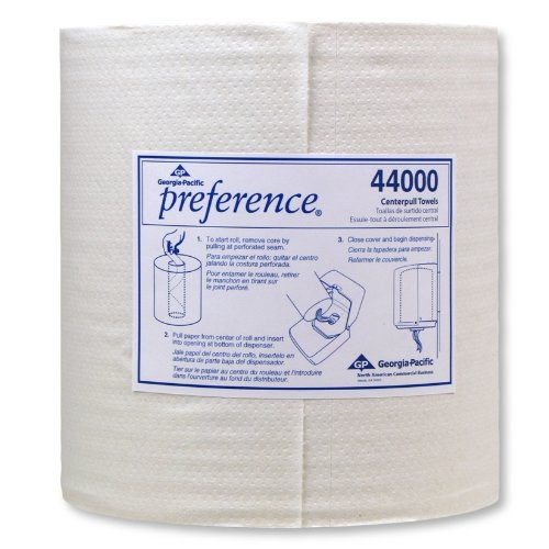 Georgia-Pacific-Preference-44000-White-2-Ply-Centerpull-Perforated-Paper-Wiper-12-Length-x-825-Width-Case-of-6-Rolls-520-Towels-per-Roll-0-1