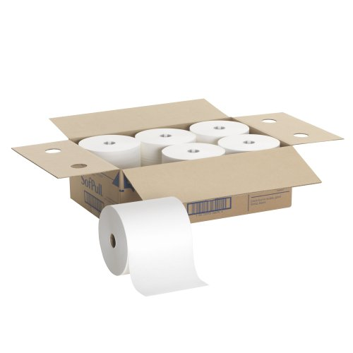 Georgia-Pacific-SofPull-26470-for-Mechanical-White-Hardwound-Roll-Paper-Towel-0-0