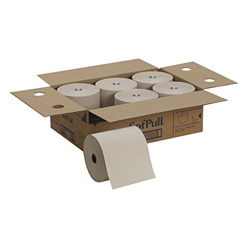 Georgia-Pacific-SofPull-for-Mechanical-White-Hardwound-Roll-Paper-Towel-Case-of-6-Rolls-0-0