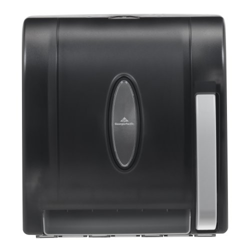 Georgia-Pacific-Vista-Black-Hygienic-Push-Paddle-Roll-Paper-Towel-Dispenser-0