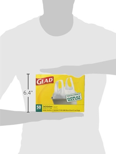 Glad-Tall-Kitchen-Handle-Tie-Trash-Bags-13-Gallon-50-Count-Pack-of-4-0-1