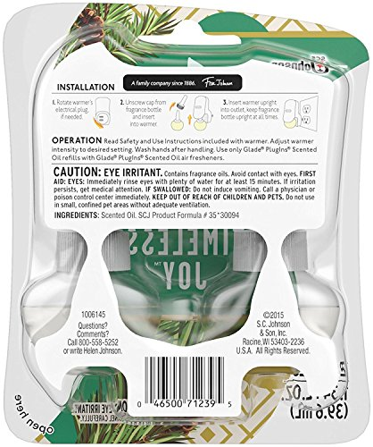 Glade-Plugins-Scented-Oil-Refills-Holiday-Collection-2016-Sparkling-Spruce-Timeless-Joy-Net-Wt-134-FL-OZ-2-Count-Refills-Per-Package-Pack-of-3-Packages-0-1