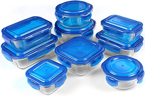 Glass-Food-Storage-Container-Set-Blue-BPA-Free-FDA-Approved-Reusable-Multipurpose-Use-for-Home-Kitchen-or-Restaurant-18-Piece-by-Utopia-Kitchen-0