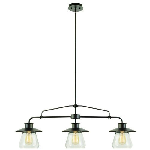 Globe-Electric-1-Light-Industrial-Flush-Mount-Light-Fixture-with-Clear-Glass-Shade-0