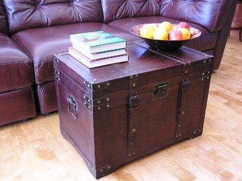 Gold-Rush-Steamer-Trunk-Wood-Storage-Wooden-Treasure-Chest-0-1