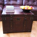 Gold-Rush-Steamer-Trunk-Wood-Storage-Wooden-Treasure-Chest-0
