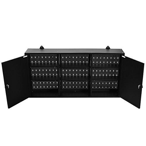 Goplus-Wall-Mount-Hanging-Tool-Box-Storage-Cabinet-Lock-Home-Office-Garage-Black-New-0-0