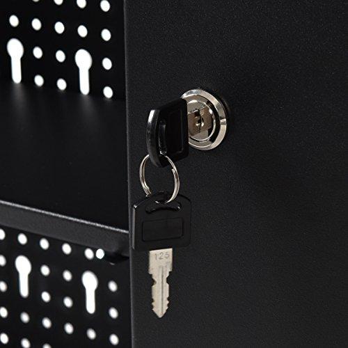 Goplus-Wall-Mount-Hanging-Tool-Box-Storage-Cabinet-Lock-Home-Office-Garage-Black-New-0-1